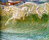 Walter Crane The Horses of Neptune [detail 1] painting